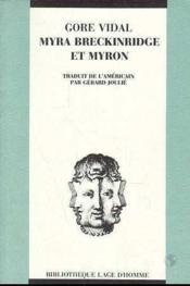Myra Breckinridge Et Myron - Couverture - Format classique