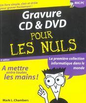 Gravure Cd Et Dvd - Intérieur - Format classique