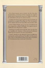 Franc maconnerie ; la levee de l'excommunication - 4ème de couverture - Format classique