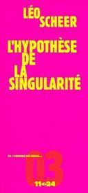 L'hypothèse de la singularité - Couverture - Format classique