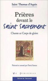 Prieres devant le saint sacrement - Couverture - Format classique
