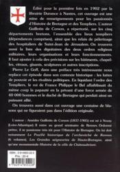 Les Templiers en Bretagne et les Hospitaliers de Saint-Jean de Jérusalem - 4ème de couverture - Format classique