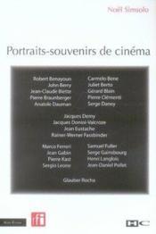 Portraits-souvenirs de cin?ma - Couverture - Format classique