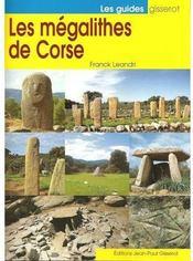 Les Megalithes De Corse - Couverture - Format classique