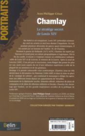 Chamlay ; le stratège du roi-soleil - 4ème de couverture - Format classique