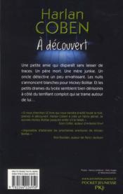 À découvert ; une aventure de Mickey Bolitar - 4ème de couverture - Format classique