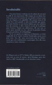 Invulnérable - 4ème de couverture - Format classique