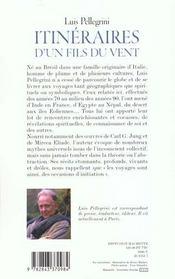 Itinéraires d'un fils du vent - 4ème de couverture - Format classique
