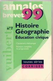 Histoire Geographie Education Civique Toutes Series (Annales Brevet) - Couverture - Format classique