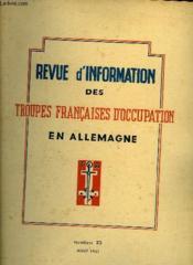 Revue D'Information Des Troupes Francaises D'Occupation En Allemagne - Numero 23 - Couverture - Format classique