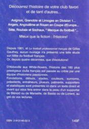 Dictionnaire historique des clubs de football français t.2 ; Mulhouse - White-Rovers - 4ème de couverture - Format classique