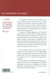 Aventures et chasses en Afrique australe et autres témoignages contemporains - 4ème de couverture - Format classique