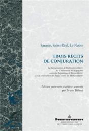 Trois récits de conjuration - Couverture - Format classique