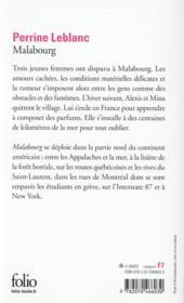 Malabourg - 4ème de couverture - Format classique