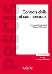 Contrats civils et commerciaux (10e édition) - Couverture - Format classique