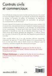 Contrats civils et commerciaux (10e édition) - 4ème de couverture - Format classique