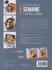 Petits plats pour la semaine - 4ème de couverture - Format classique