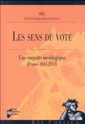 Le sens du vote - Couverture - Format classique