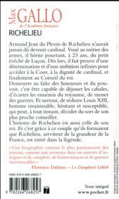 Richelieu ; la foi dans la France - 4ème de couverture - Format classique