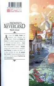 The promised Neverland T.10 - 4ème de couverture - Format classique