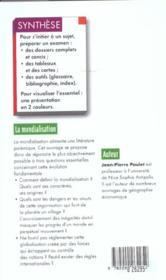 La Mondialisation ; 2e Edition - 4ème de couverture - Format classique