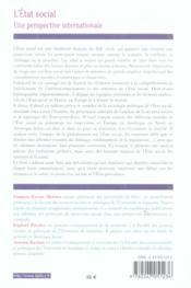 L'etat social - une perspective internationale (1re édition) - 4ème de couverture - Format classique