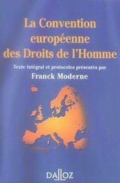 La convention européenne des droits de l'homme - Intérieur - Format classique
