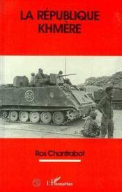 La Republique Khmere - Couverture - Format classique