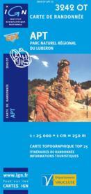Apt ; parc naturel du Lubéron ; 3242 OT - Couverture - Format classique