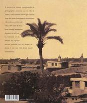 Des photographes a damas, 1840-1918 - 4ème de couverture - Format classique