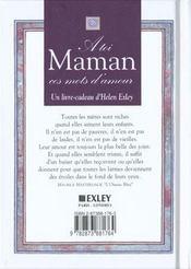 A toi maman - 4ème de couverture - Format classique