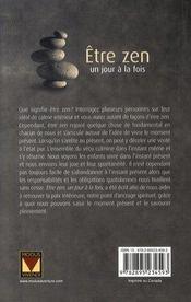 Être zen un jour à la fois (édition 2007) - 4ème de couverture - Format classique