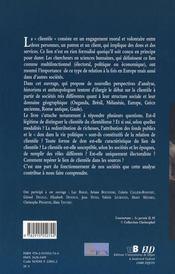 Clientele guerriere clientele fonciere et clientele electorale - 4ème de couverture - Format classique