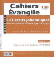 Les Ecrits Johanniques - Couverture - Format classique