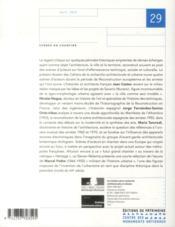 LES CAHIERS DE LA RECHERCHE ARCHITECTURALE ET URBAINE N.29 ; scènes en chantier - 4ème de couverture - Format classique