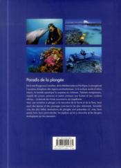 Paradis de la plongée ; 65 voyages sous-marins inoubliables - 4ème de couverture - Format classique