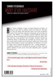 Mort d'un faussaire - 4ème de couverture - Format classique