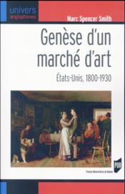 Genèse d'un marché d'art - Couverture - Format classique