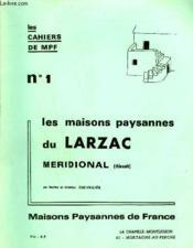 Les Cahiers De Mpf N°1 - Les Maisons Paysannes Du Larzac Meridional (Herault). - Couverture - Format classique