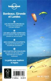 Explorer la région ; Bordeaux, Gironde et Landes (3e édition) - 4ème de couverture - Format classique