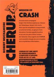 Cherub mission T.9 ; crash - 4ème de couverture - Format classique