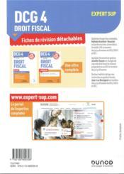 DCG 4 ; droit fiscal ; 55 fiches de révision pour réussir l'épreuve (édition 2019/2020) - 4ème de couverture - Format classique