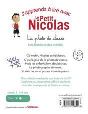 J'apprends à lire avec Le Petit Nicolas T.2 ; la photo de classe - 4ème de couverture - Format classique