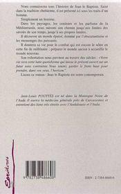 Jean, Le Baptiste - 4ème de couverture - Format classique