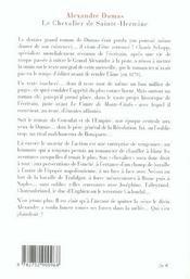 Le chevalier de Sainte-Hermine - 4ème de couverture - Format classique