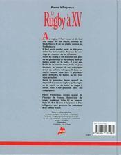 Le rugby - 4ème de couverture - Format classique