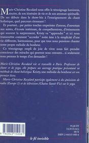 Kristy ; Une Melodie Du Bonheur - 4ème de couverture - Format classique
