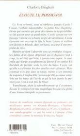 Ecoute Le Rossignol - 4ème de couverture - Format classique
