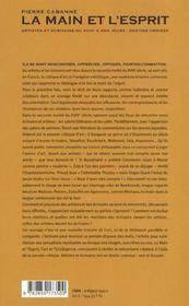 La main et l esprit - 4ème de couverture - Format classique