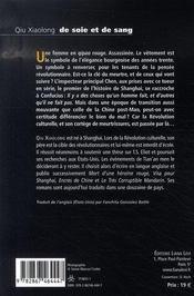 De soie et de sang - 4ème de couverture - Format classique